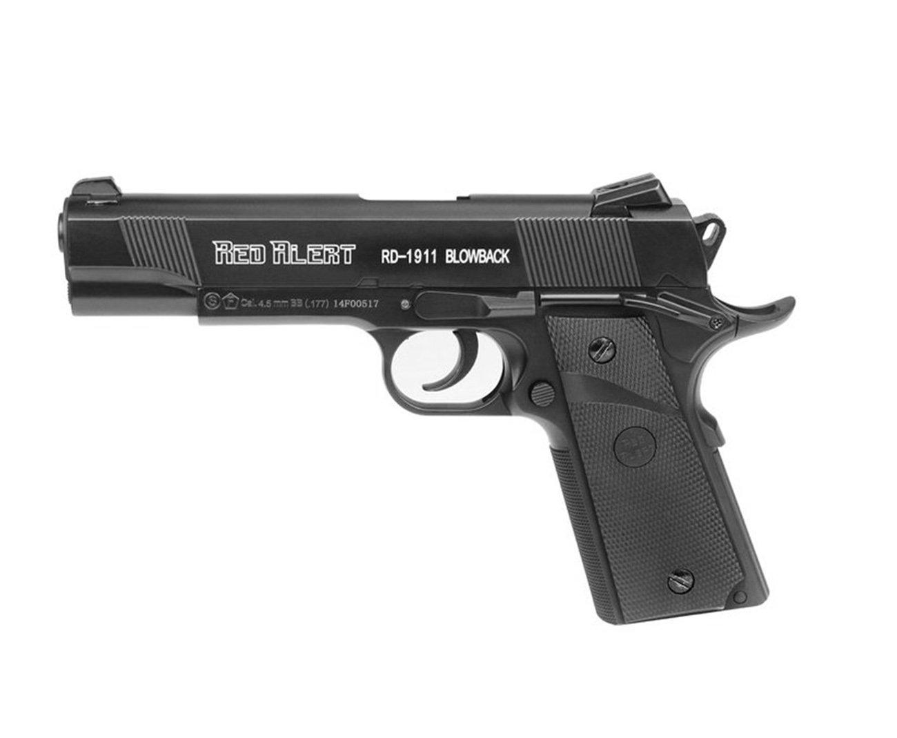 Pistola De Pressão A Gás Co2 Rd-1911 Blowback 4.5mm - Red Alert | Gamo