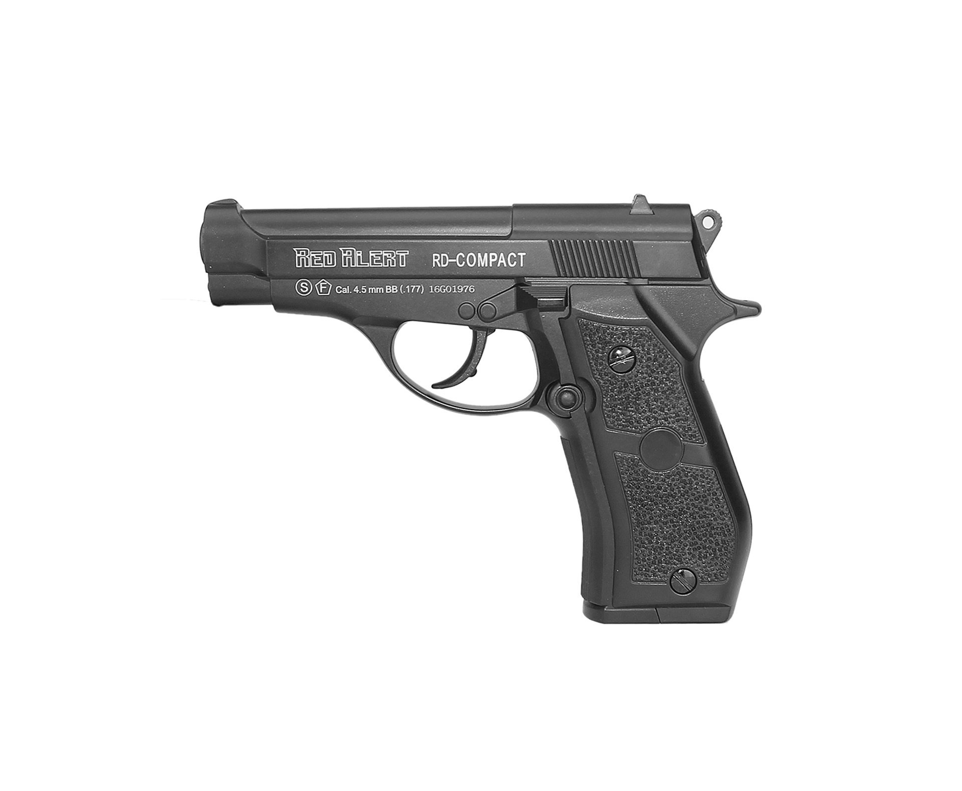 Pistola De Pressão A Gás Co2 Rd-compact Full Metal Black 4.5mm - Red Alert