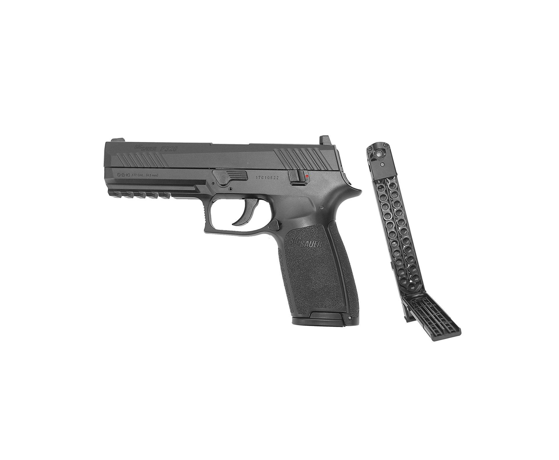 Pistola Pressão Sig Sauer P320 Gas Co2 4,5mm 30 Tiros Blowback