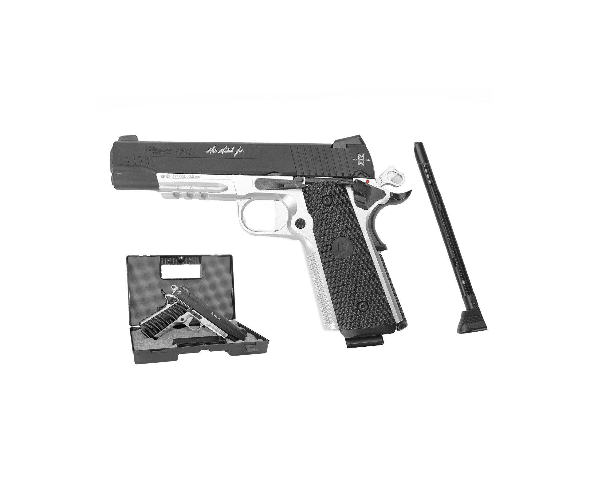 Pistola Pressão Sig Sauer 1911 Co2  Esferas De Aço 4,5mm