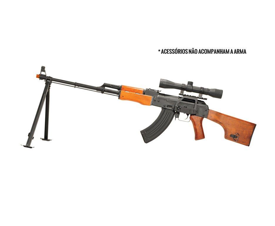 Rifle De Airsoft Kalashnikov Rpk-74 - Full Metal - Calibre 6,0 Mm