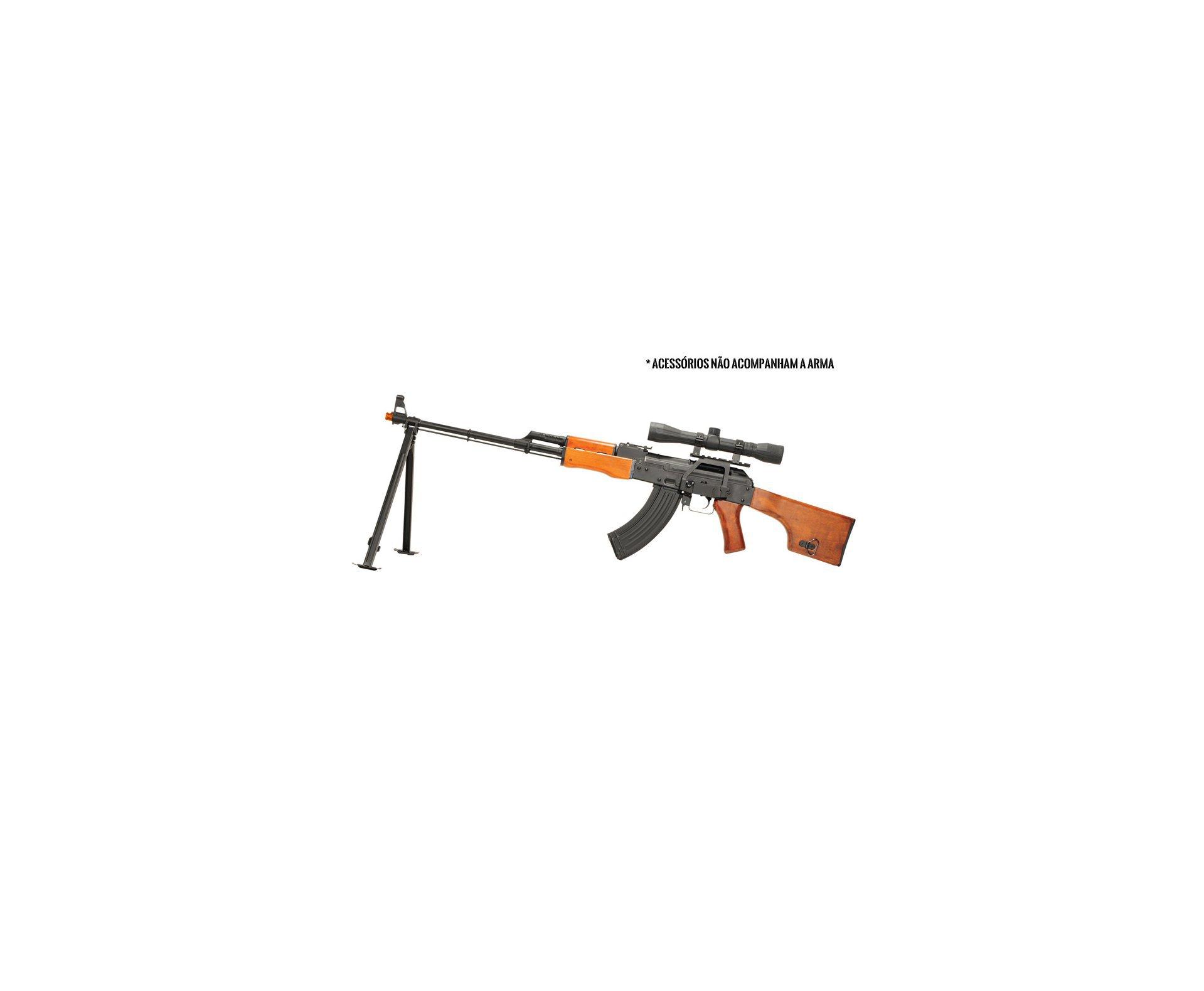 Rifle De Airsoft Kalashnikov Rpk-74 - Full Metal - Calibre 6,0 Mm - 220 V