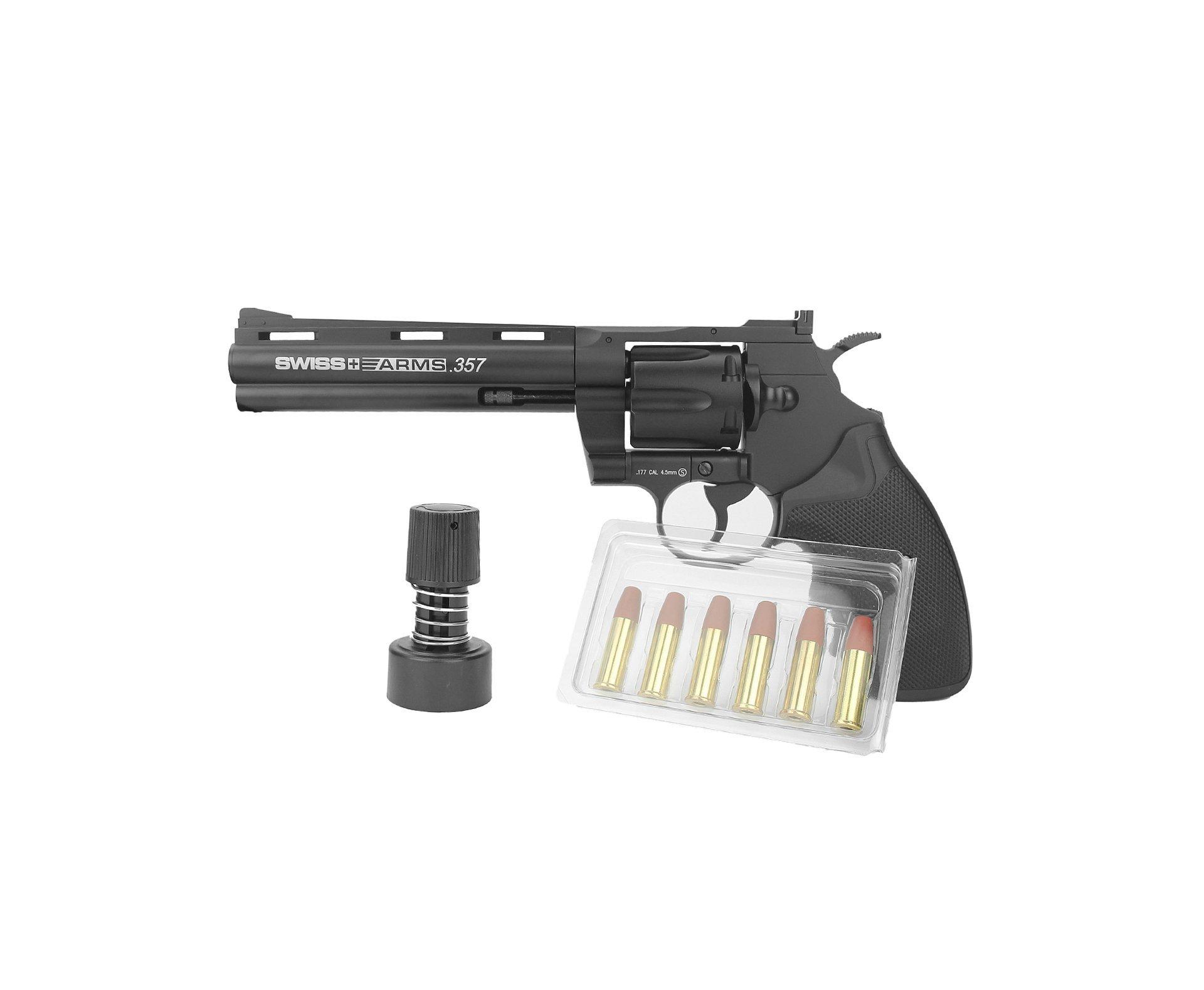 Revólver De Pressão Co2 Colt Python 357 6 Pol Full Metal Cal 4,5