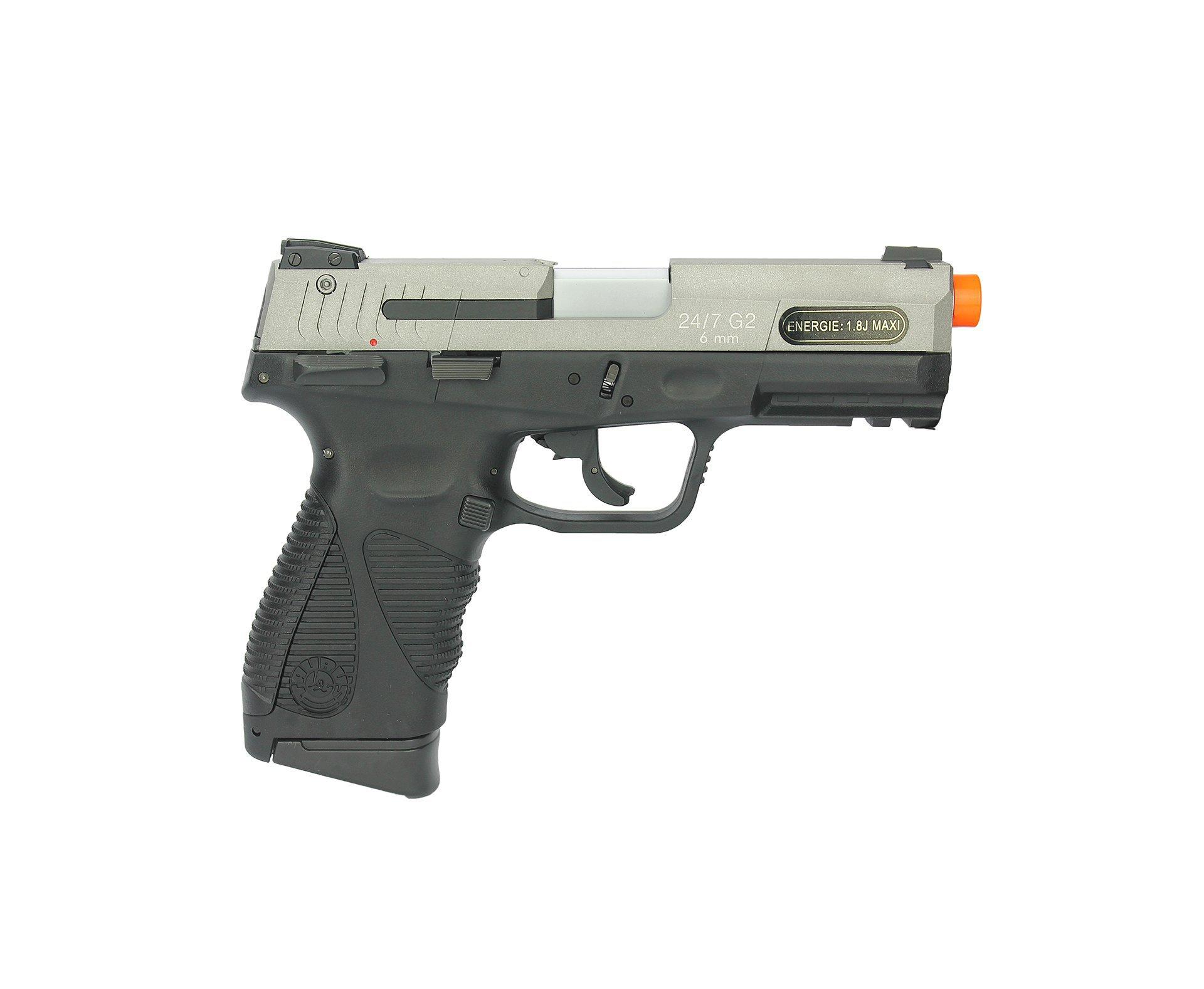 Pistola De Airsoft Gas Co2 Taurus Pt 24/7 G2 Blowback Slide Metal Dual Color 6mm