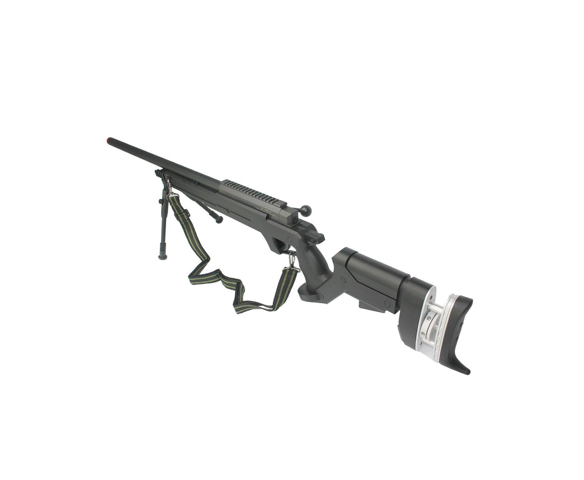 Rifle De Airsoft Sniper Gas Gbb G25b Com Bipé Cal 6.0mm - Well