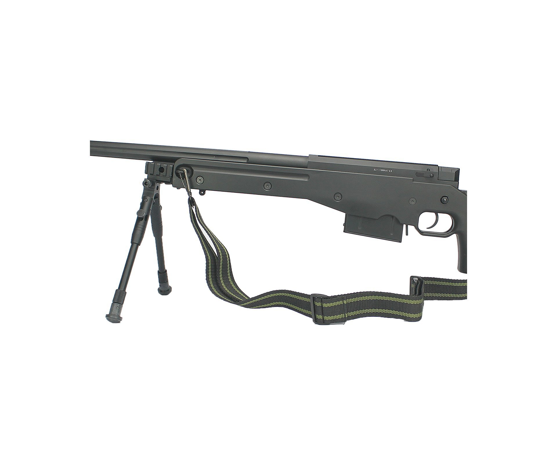 Rifle De Airsoft  Sniper Gas Gbb Sniper G96b Com Bipé Cal 6mm - Well