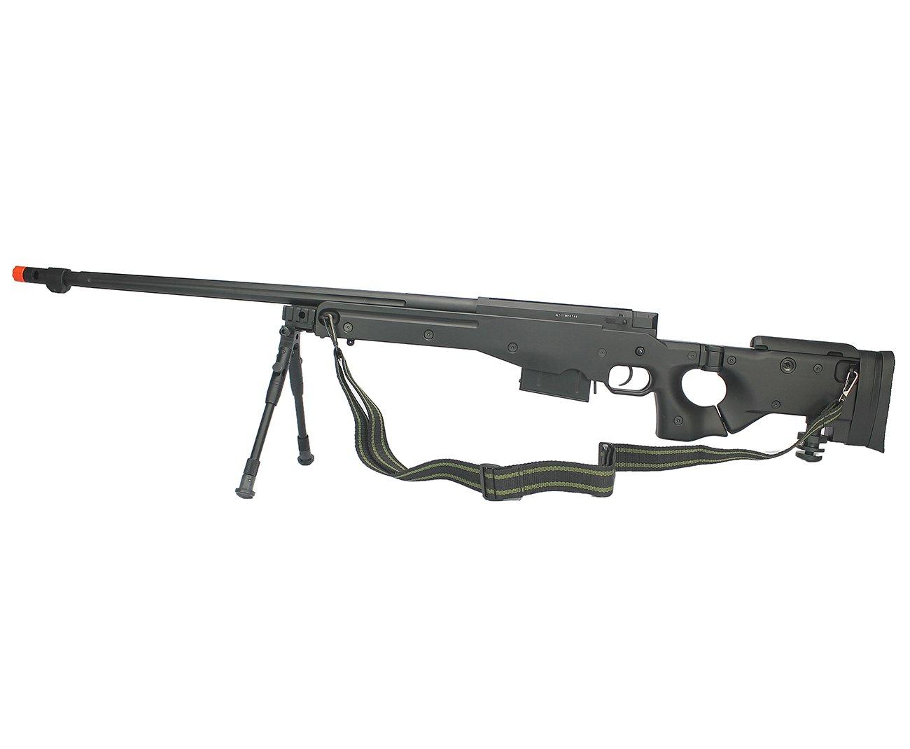Rifle De Airsoft  Sniper Gas Gbb Sniper G96b Com Bipé Cal 6mm - Well