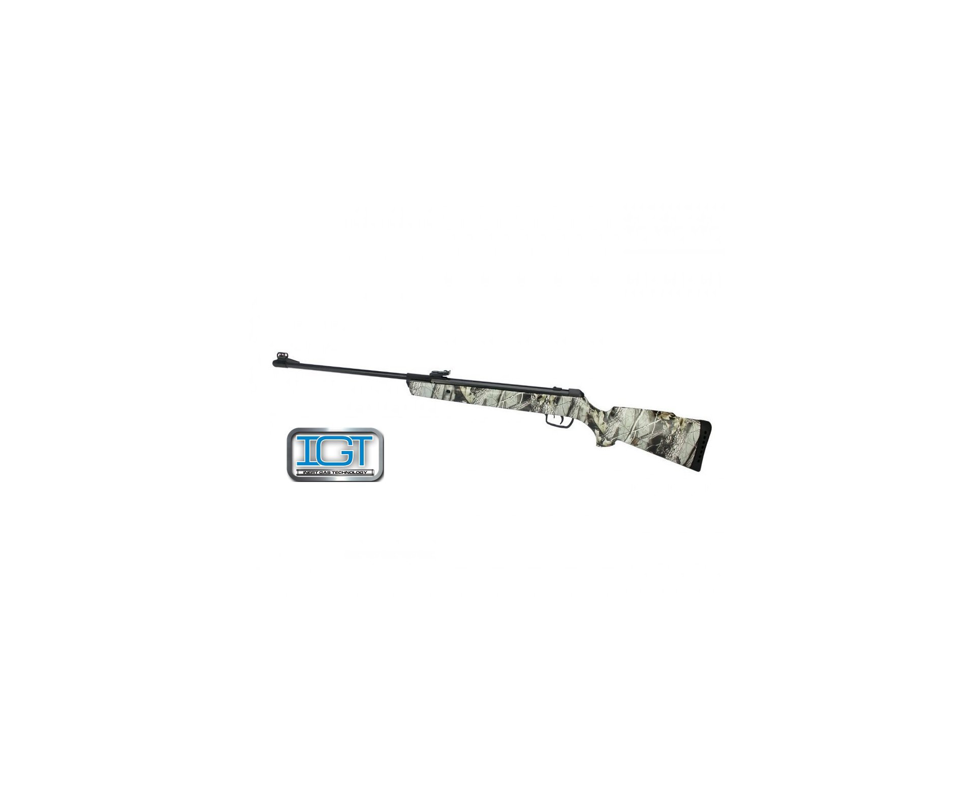 Carabina De Pressão Gamo Big Cat 1000 Camuflada 4,5 Mm Igt High Power Gás Ram 50kg