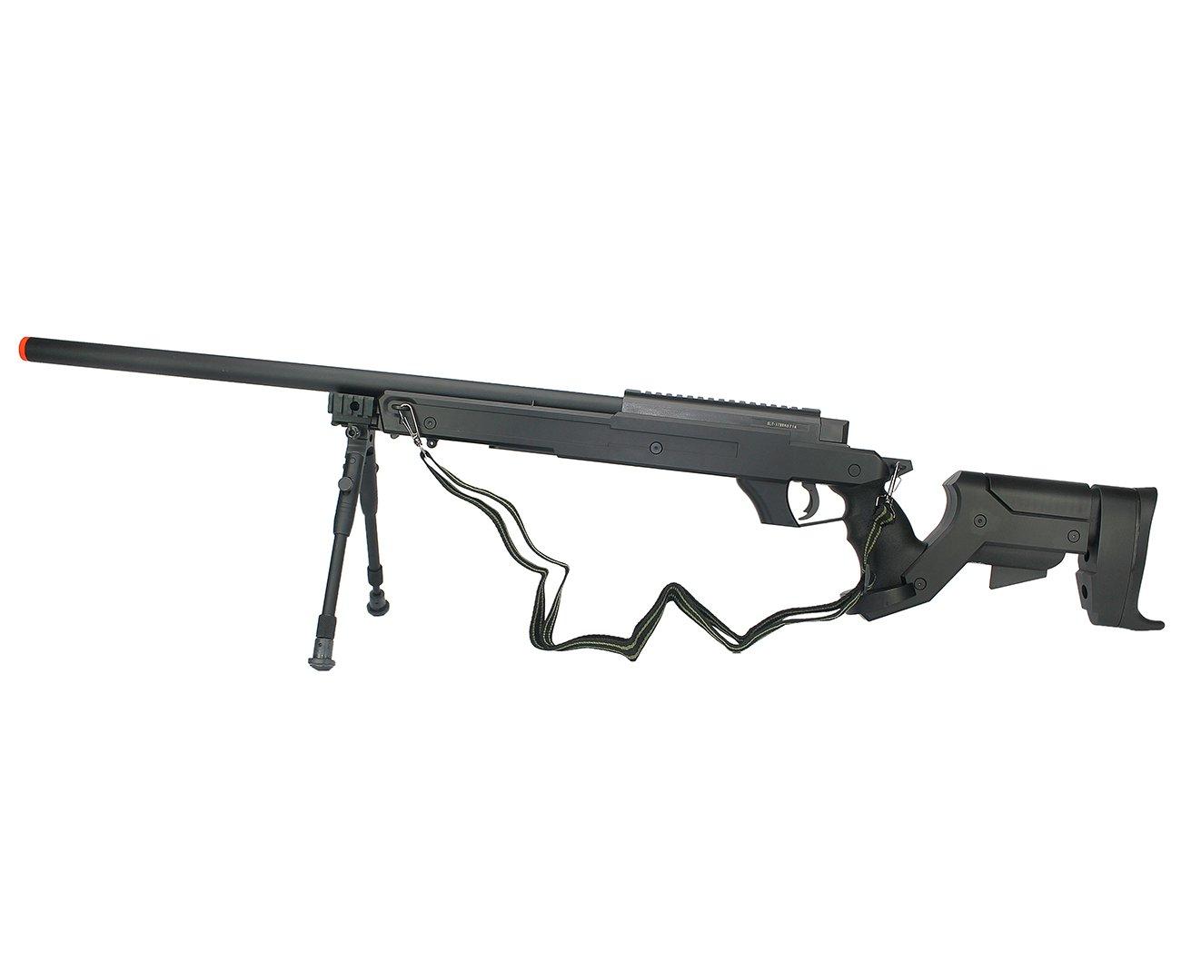 Rifle Sniper De Airsoft Gás Gbb G22b Com Bipé Cal 6.0mm Well
