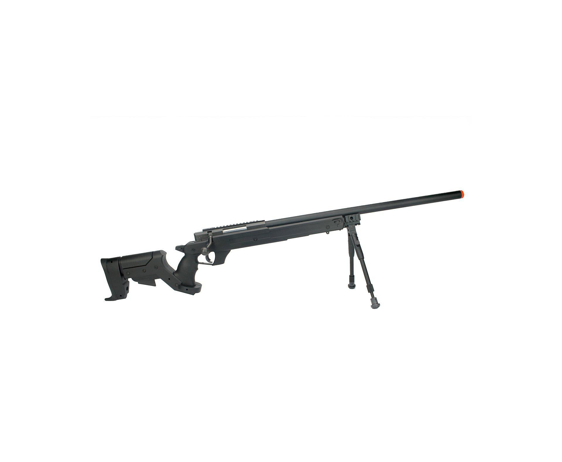 Rifle Sniper De Airsoft Gás Gbb G22b Com Bipé Cal 6.0mm Well