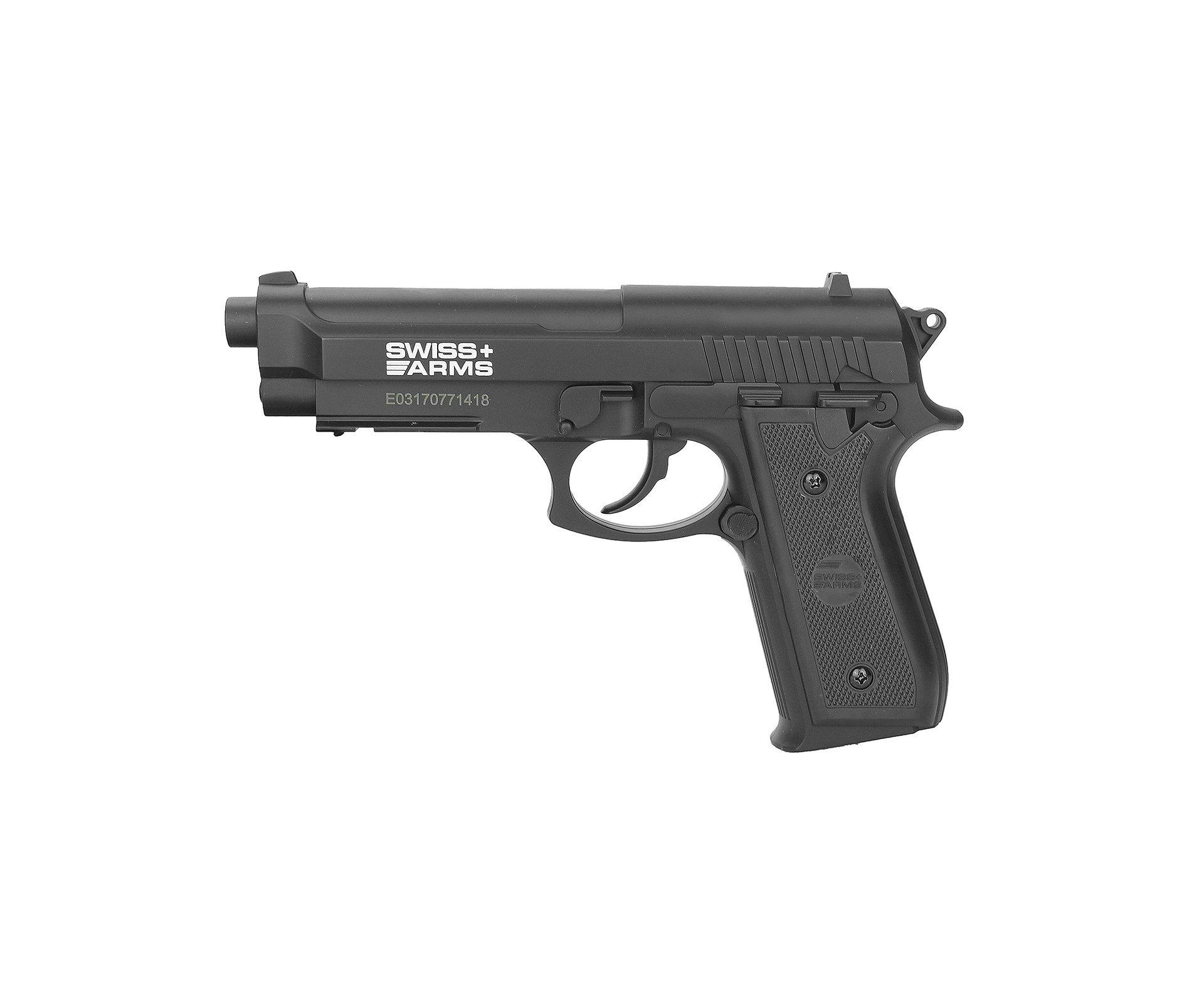 Pistola De Pressão Gas Co2 Sa P92 4.5mm Swiss Arms