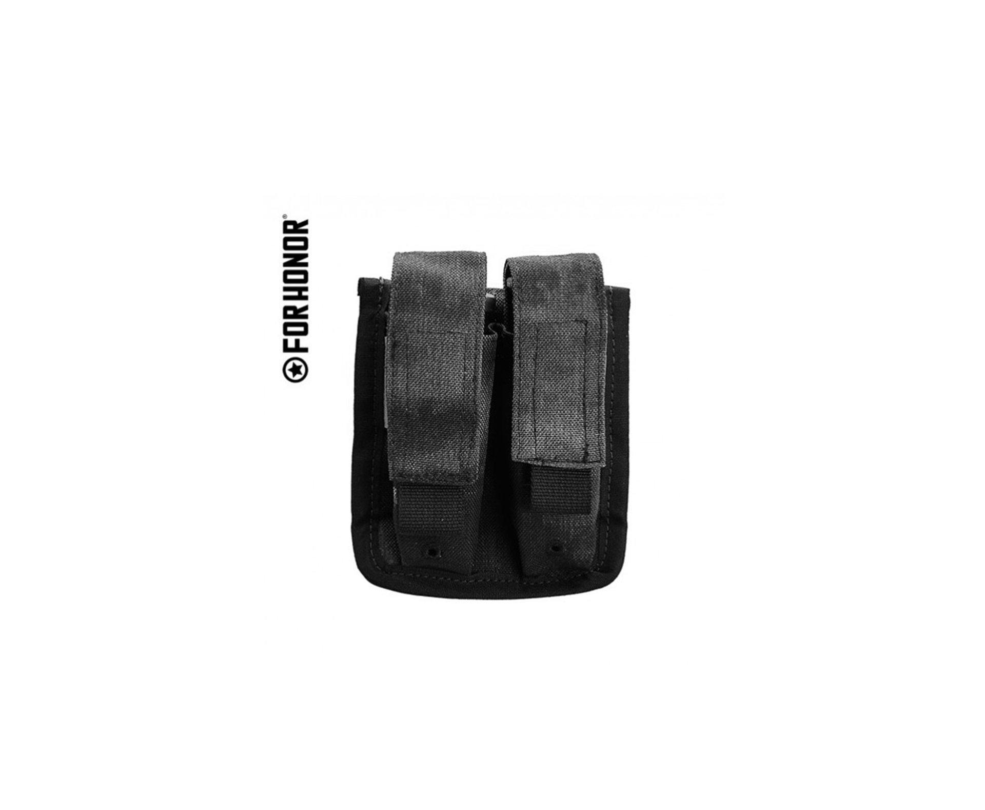Porta Carregador Pistola Duplo Forhonor Em Cordura 1000 Black