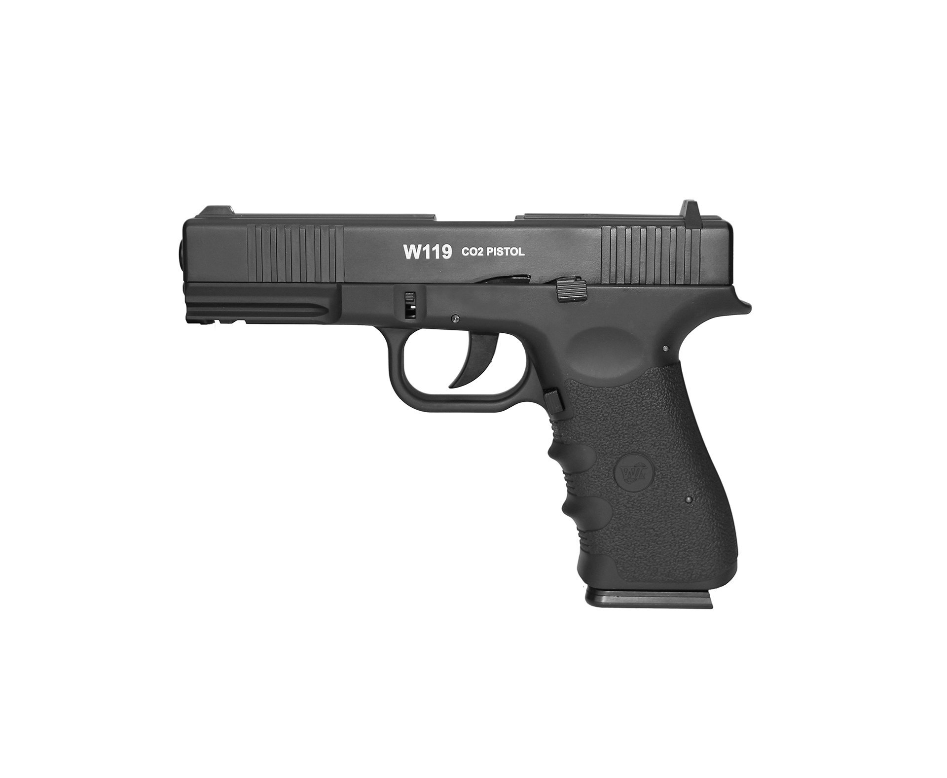Pistola De Pressão Gas Co2 Wg Glock W119 Slide Metal Blowback 4,5mm