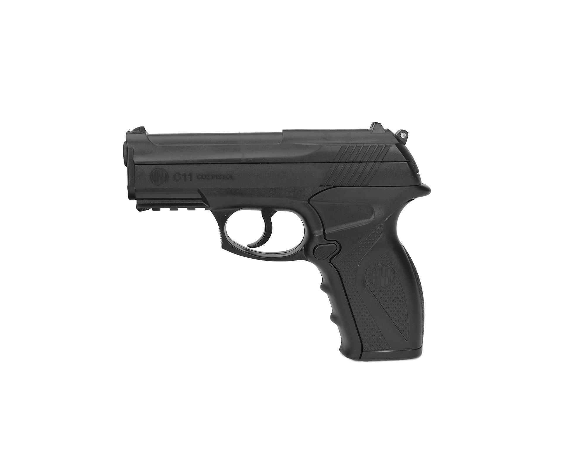 Pistola De Pressão Gas Co2 Wg C11 Polímero Esferas Aço 4,5mm