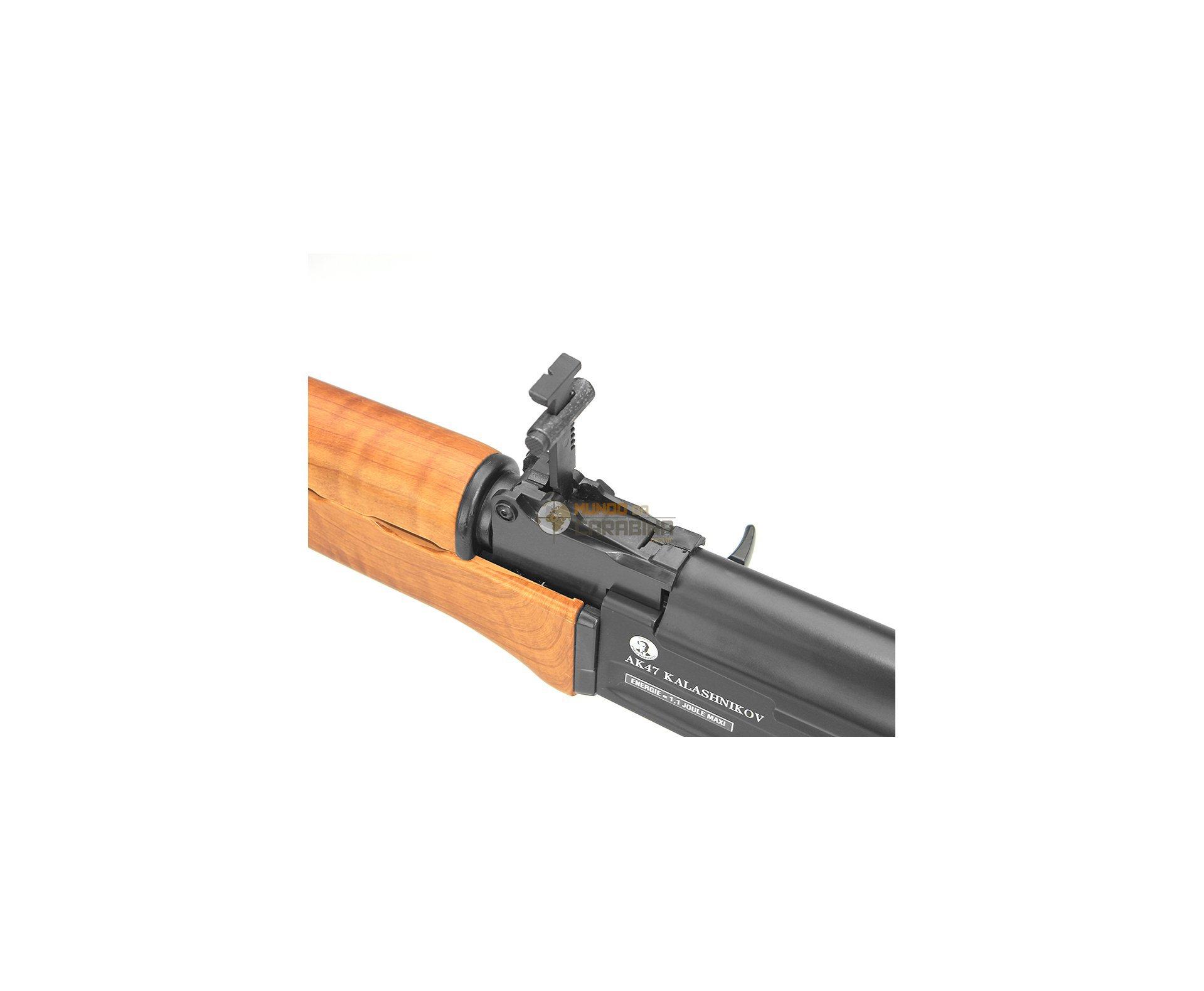 Rifle De Aisoft Kalashnikov Ak 47 - Full Metal - Calibre 6,0 Mm - Cyber Gun - 220 V