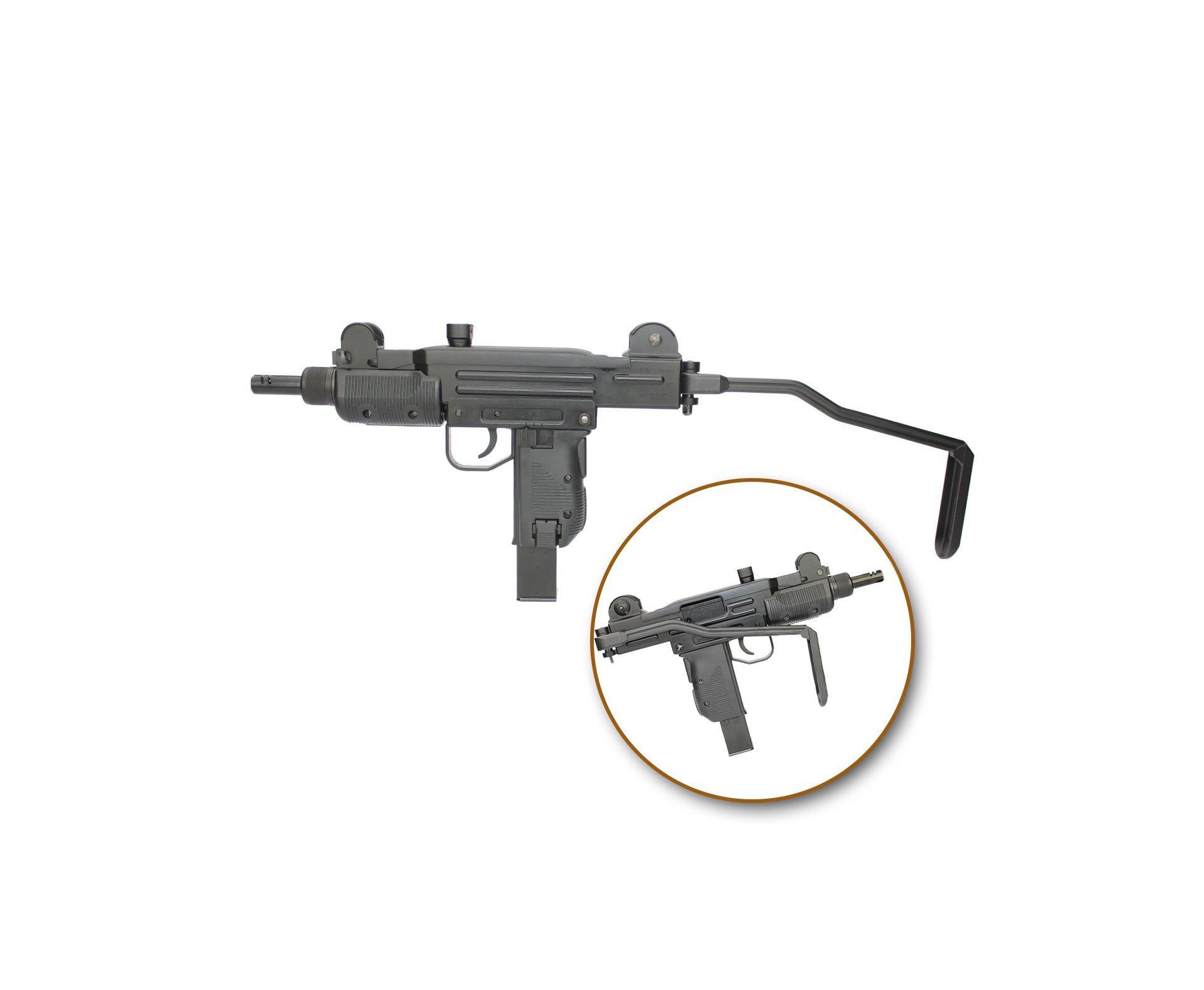 Rifle De Pressão Co2 Sub-metralhadora Mini Uzi Full Metal Blowback 4.5mm Kwc