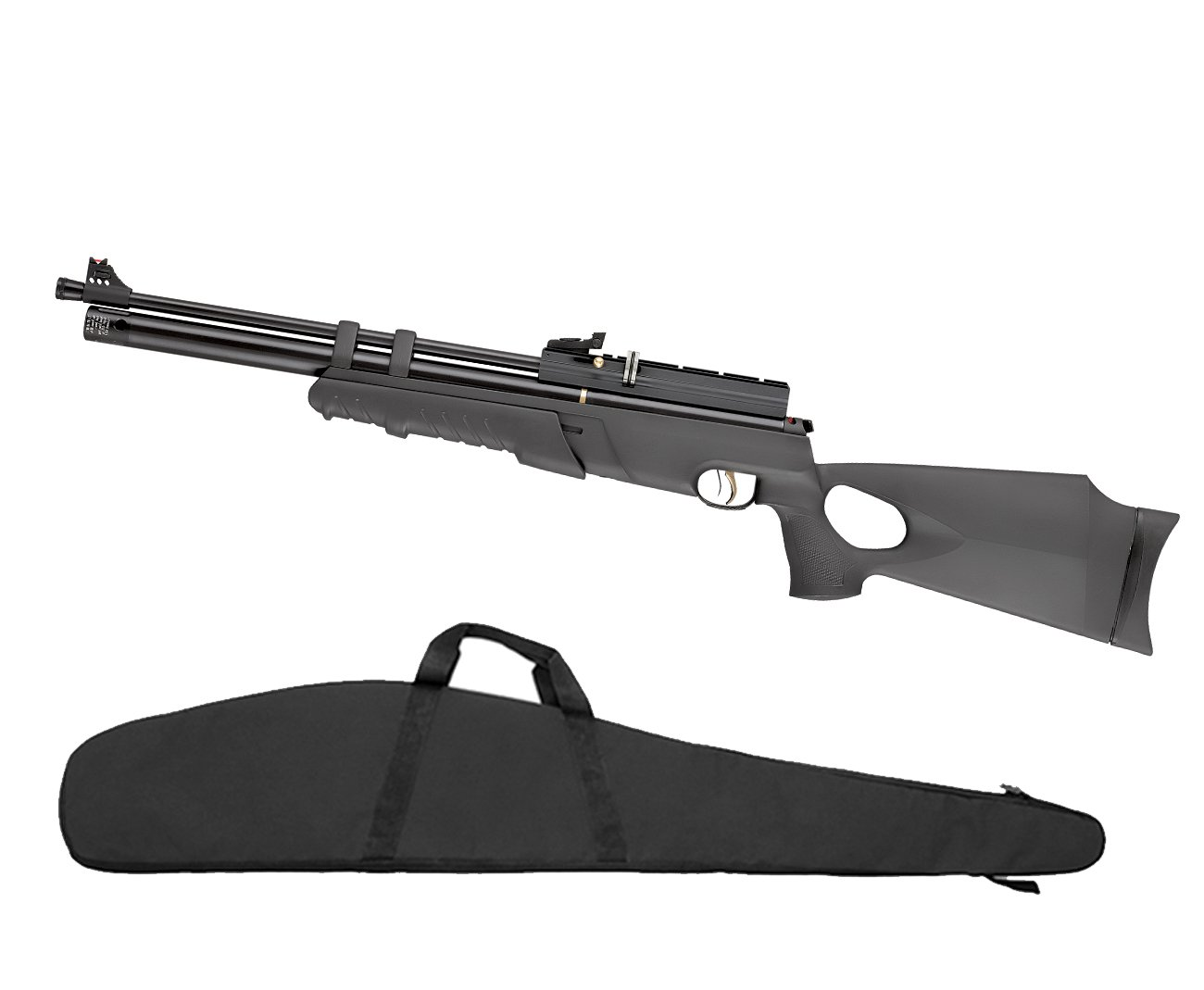 "Carabina De Pressão Hatsan Pcp At44-10pa - Cal. 5,5mm (pump Action) + Capa 46"""