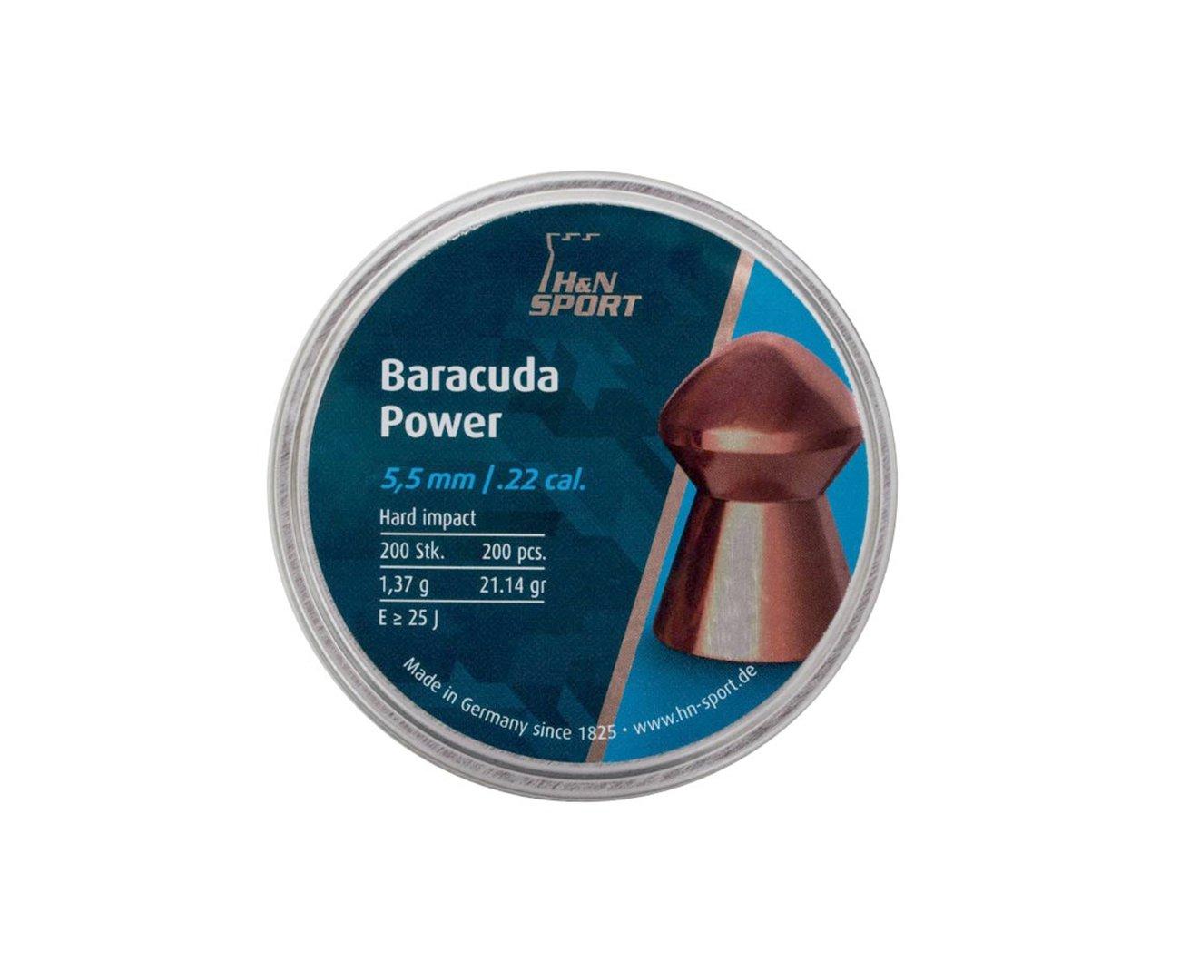 Chumbinho Profissional H&n Baracuda Power 5,5mm 200un