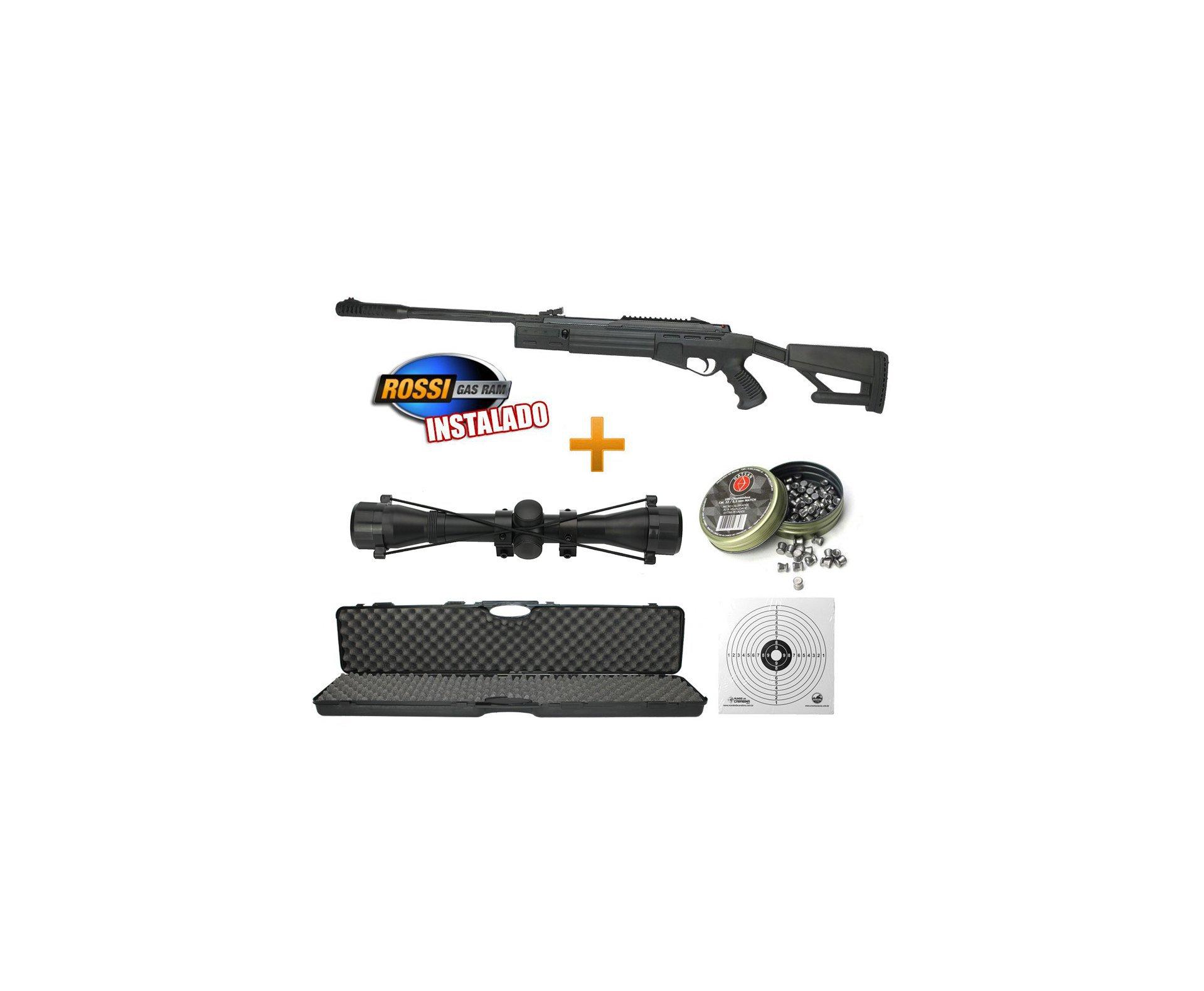 Carabina De Pressão Hatsan Striker Airtact Combo Especial - Cal 5,5mm + Gas Ram + Luneta 4x32 + Alvo + Chumbinho + Case Rossi