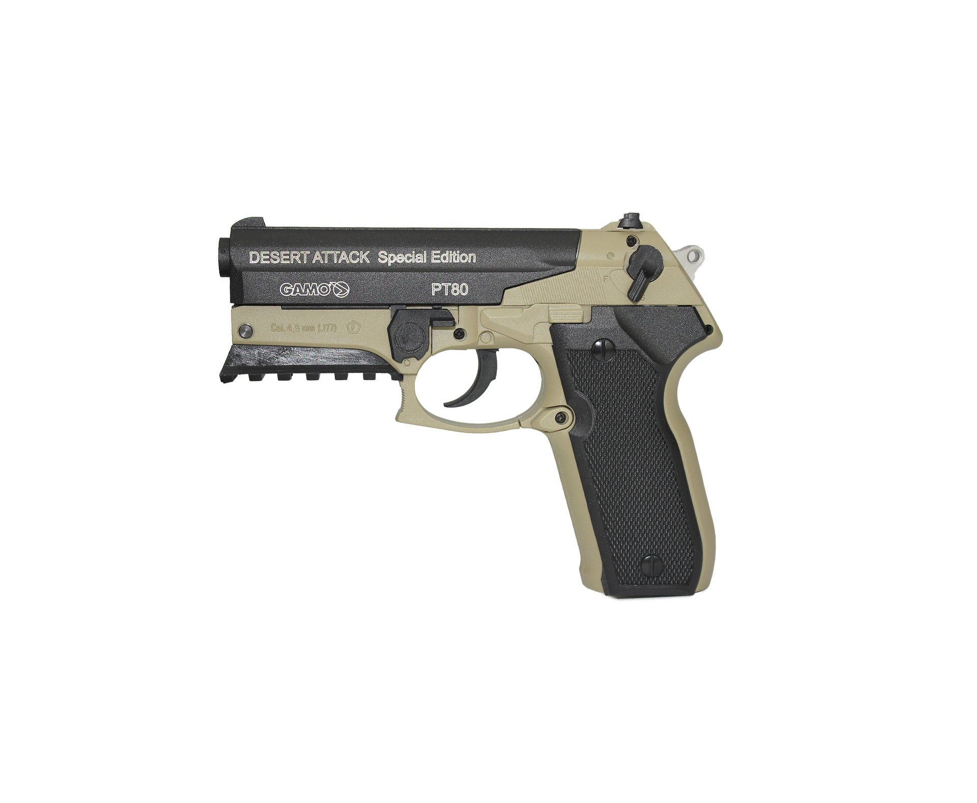 Pistola De Co2 Gamo Pt-80 Desert Attack Se 08 Tiros 4,5mm