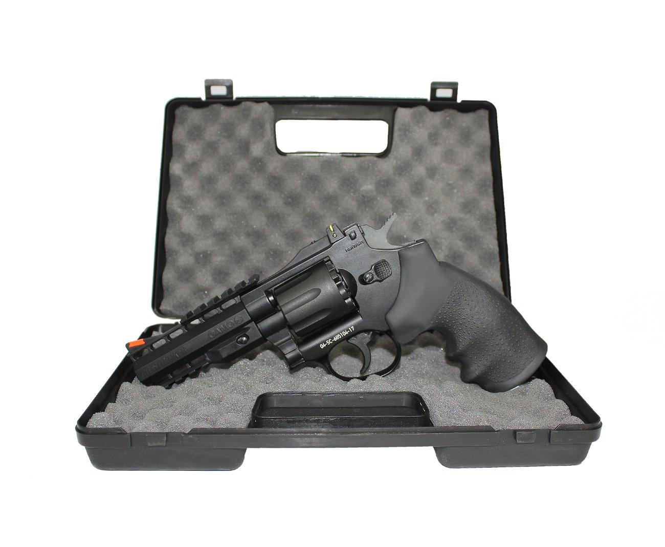"""Revólver De Pressão Co2 4"""" Gamo Gr-stricker 8 Tiros Chumbinho 4,5mm"""