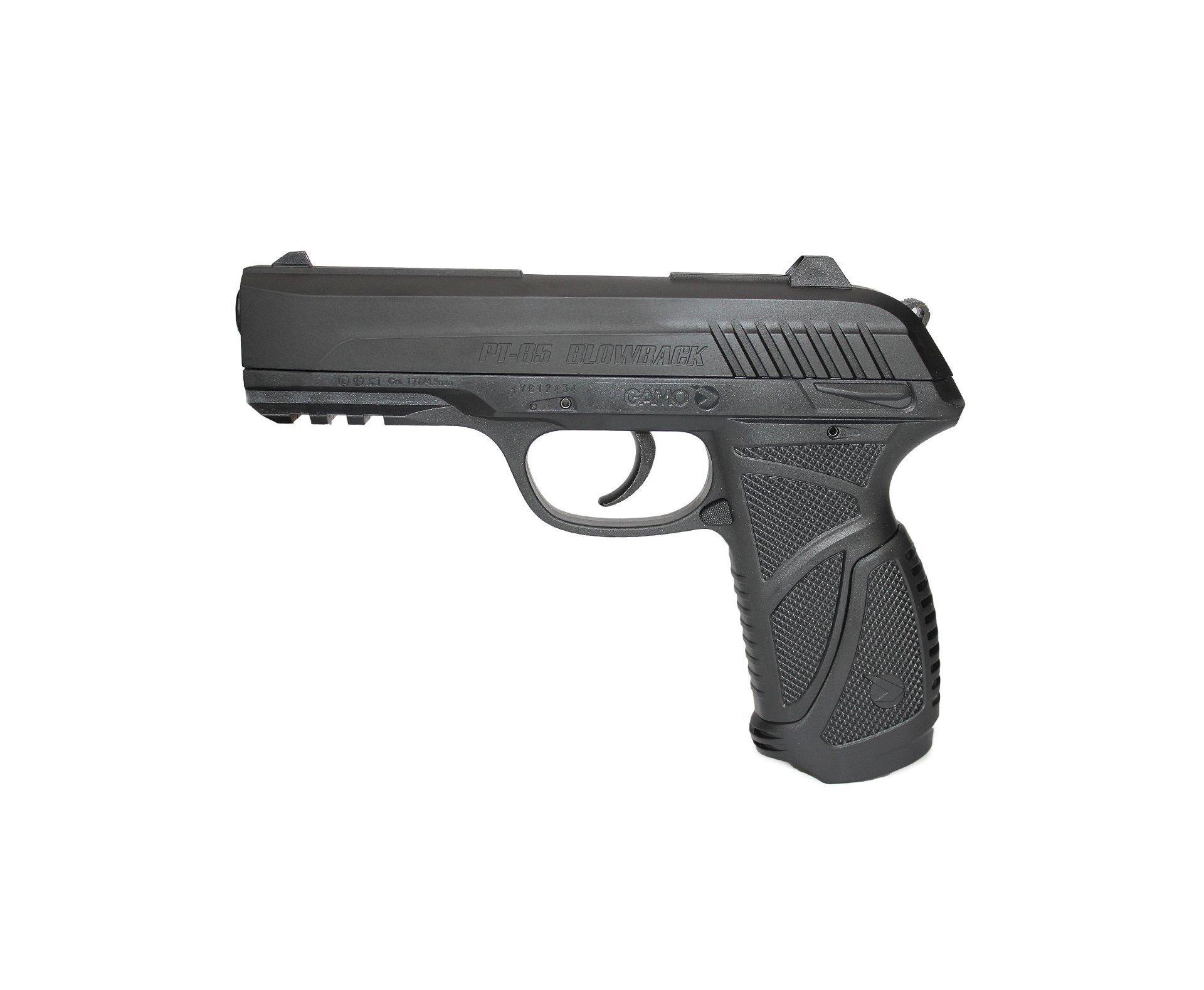 Pistola De Pressão Gamo Co2 Pt-85 Blowback Slide Metal 4.5mm