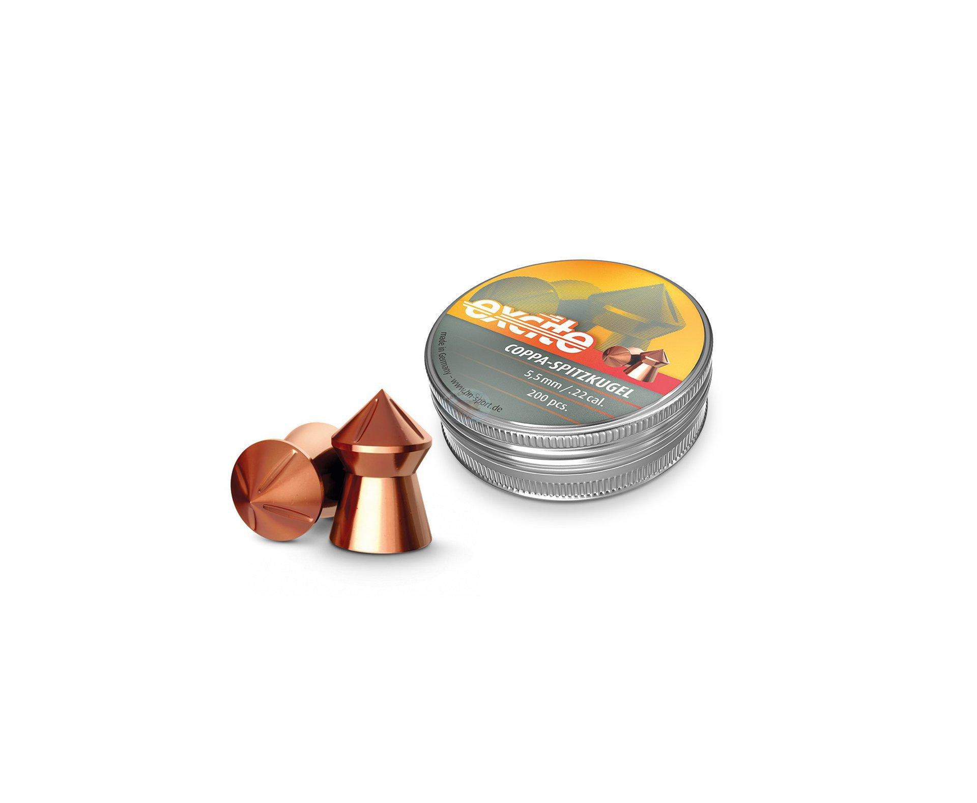 Chumbinho Profissional H&n Excite Coppa-spitzkugel Cobreado 5,5mm 200uni