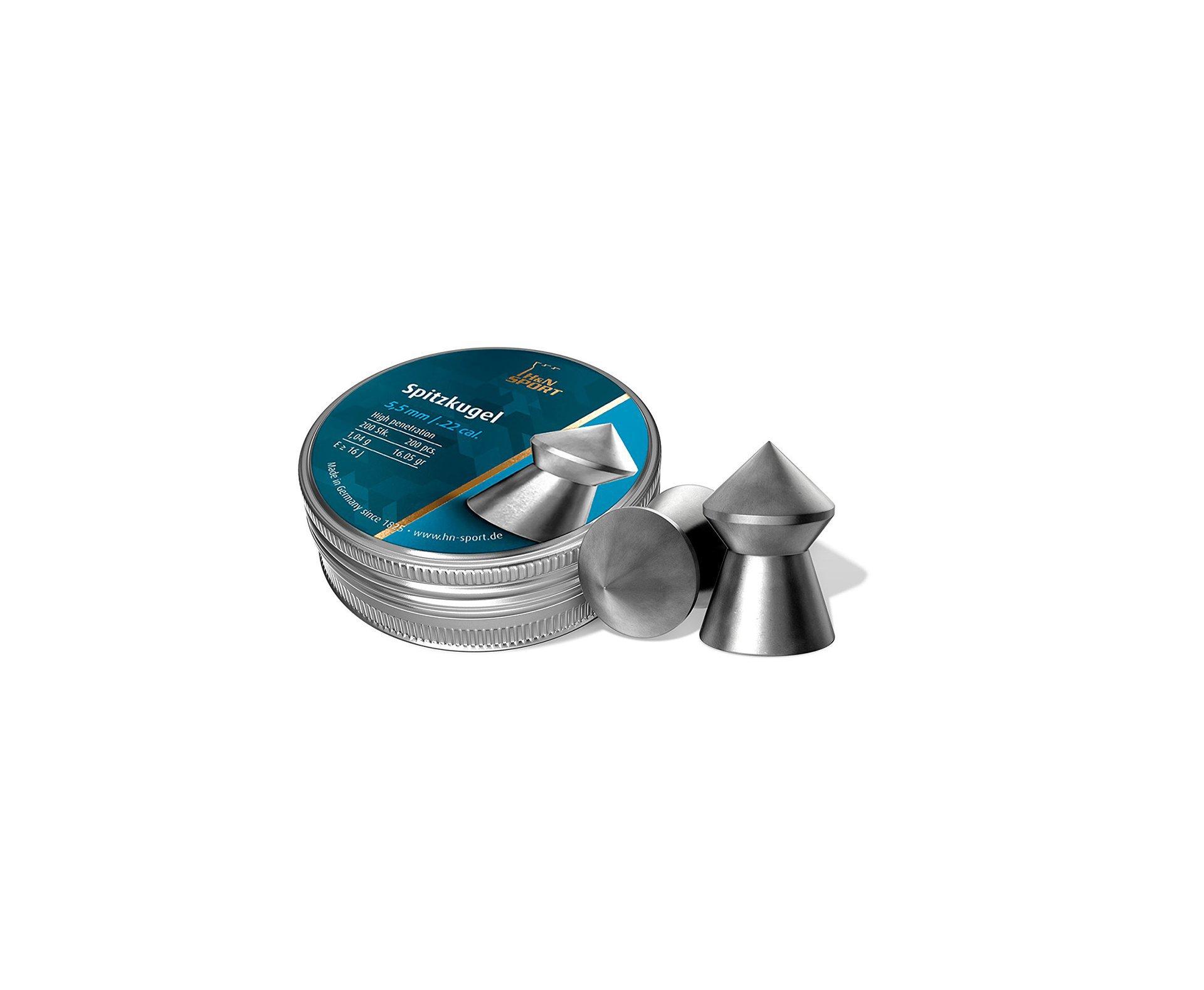 Chumbinho H&n Spitzkugel 5,5mm 200uni Alta Precisão E Penetração