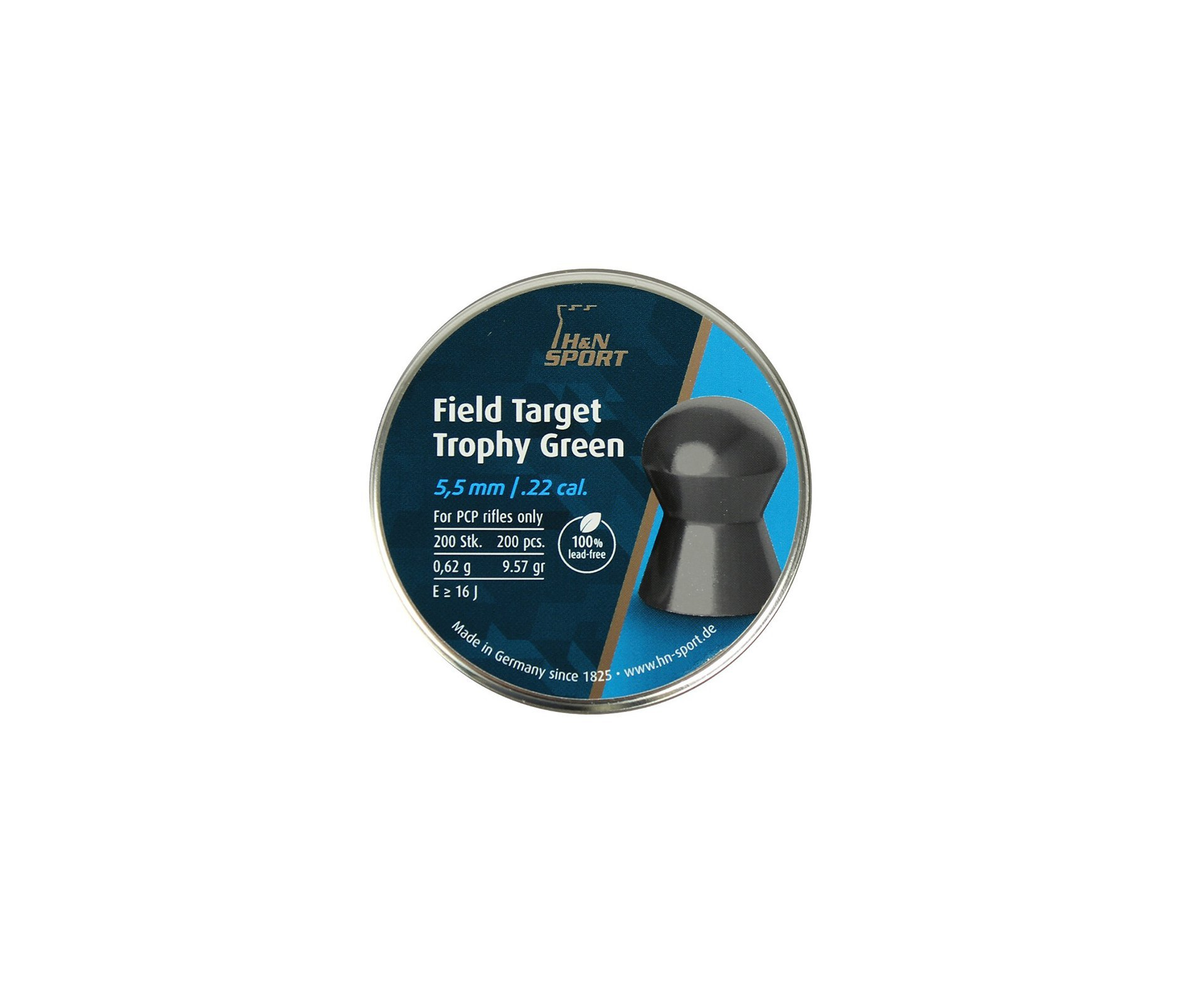 Chumbinho Profissional H&n Field Target Trophy Green 5,5mm 200uni