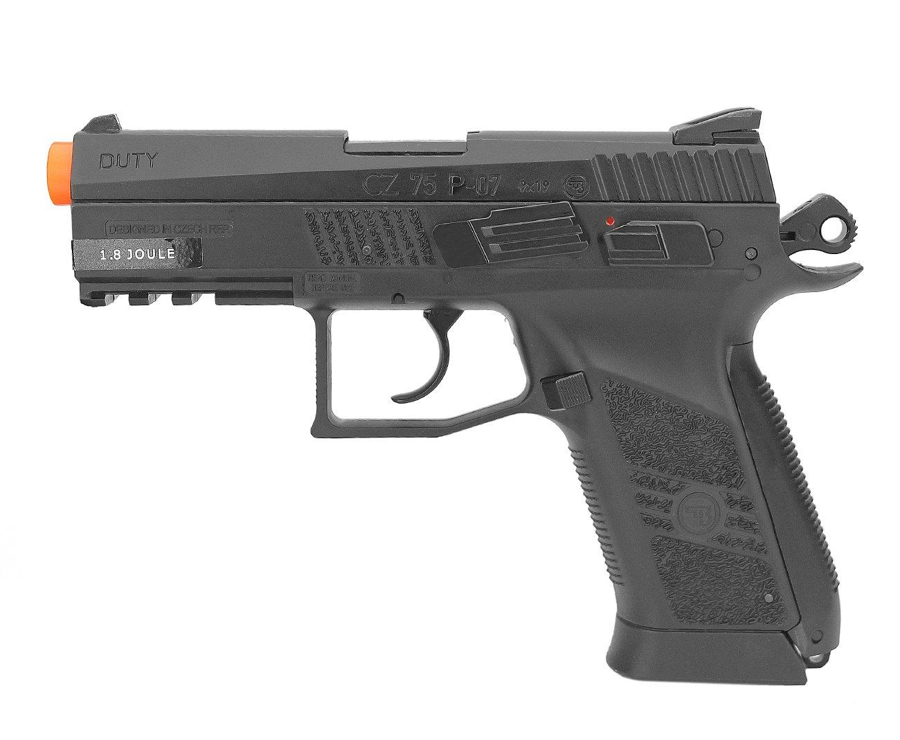 Pistola De Airsoft Co2 Cz 75 P-07 Duty Slide Metal 6.0mm Asg