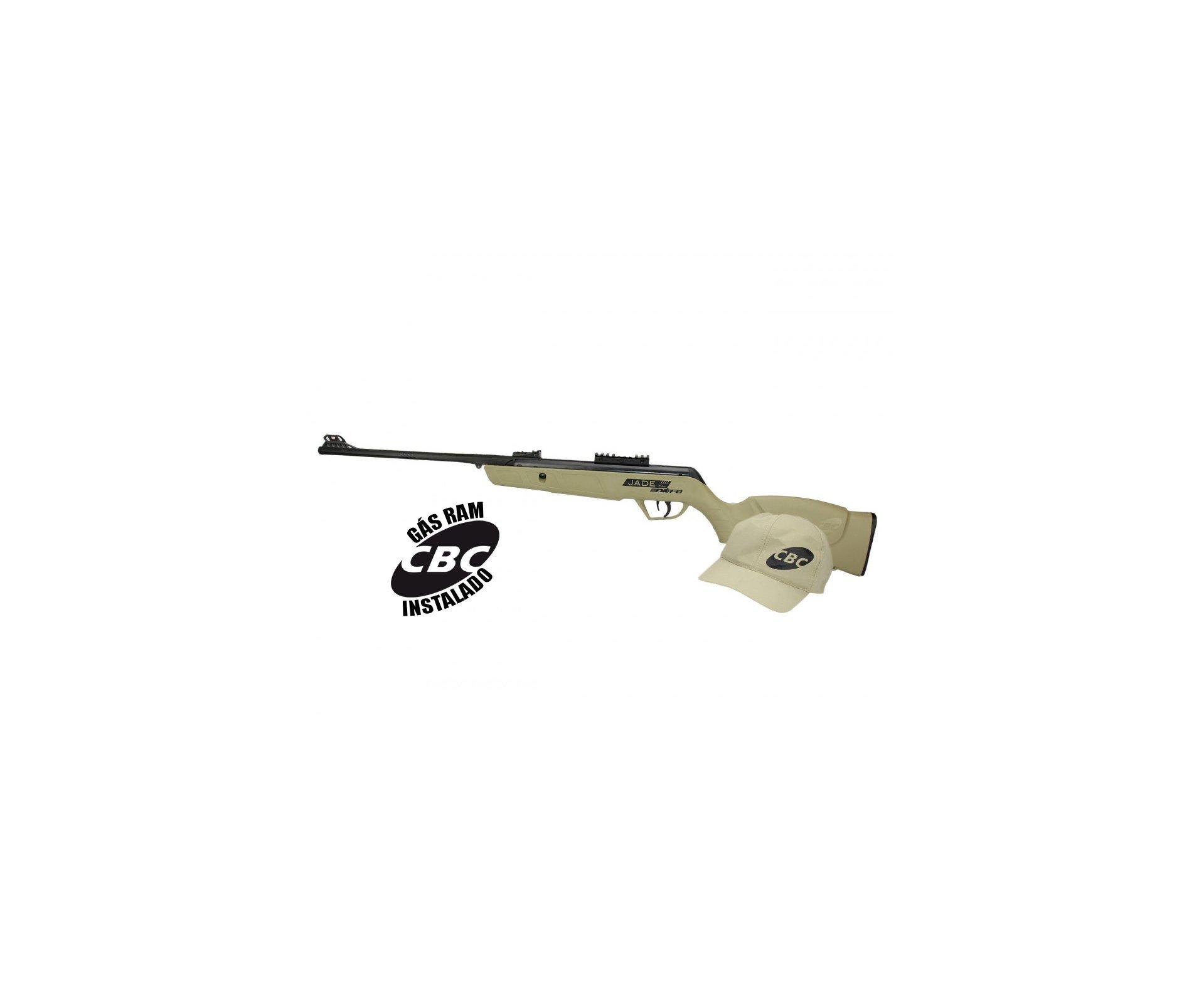 Carabina De Pressão Cbc Jade Mais Nitro Tan Cal 4,5mm