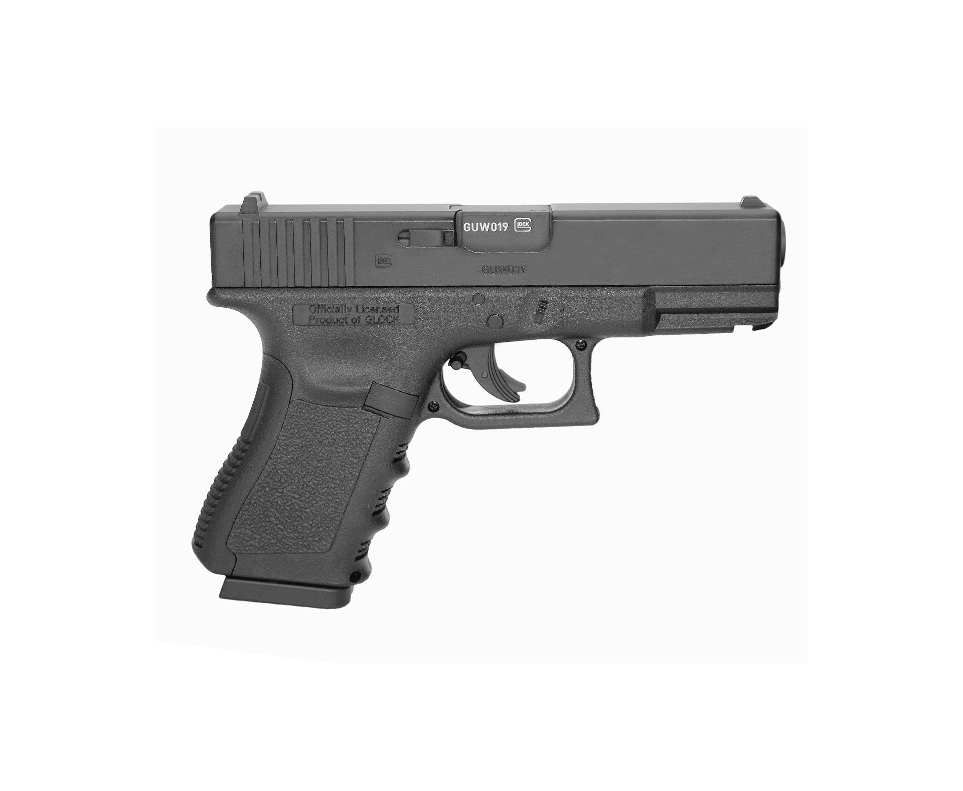 Pistola De Pressão Co2 Glock G19 Slide Metal 4,5mm Oficial