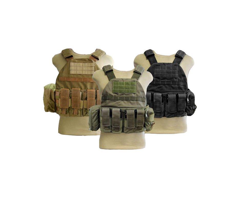 Colete Tático Plate - Sistema Modular - Verde Militar