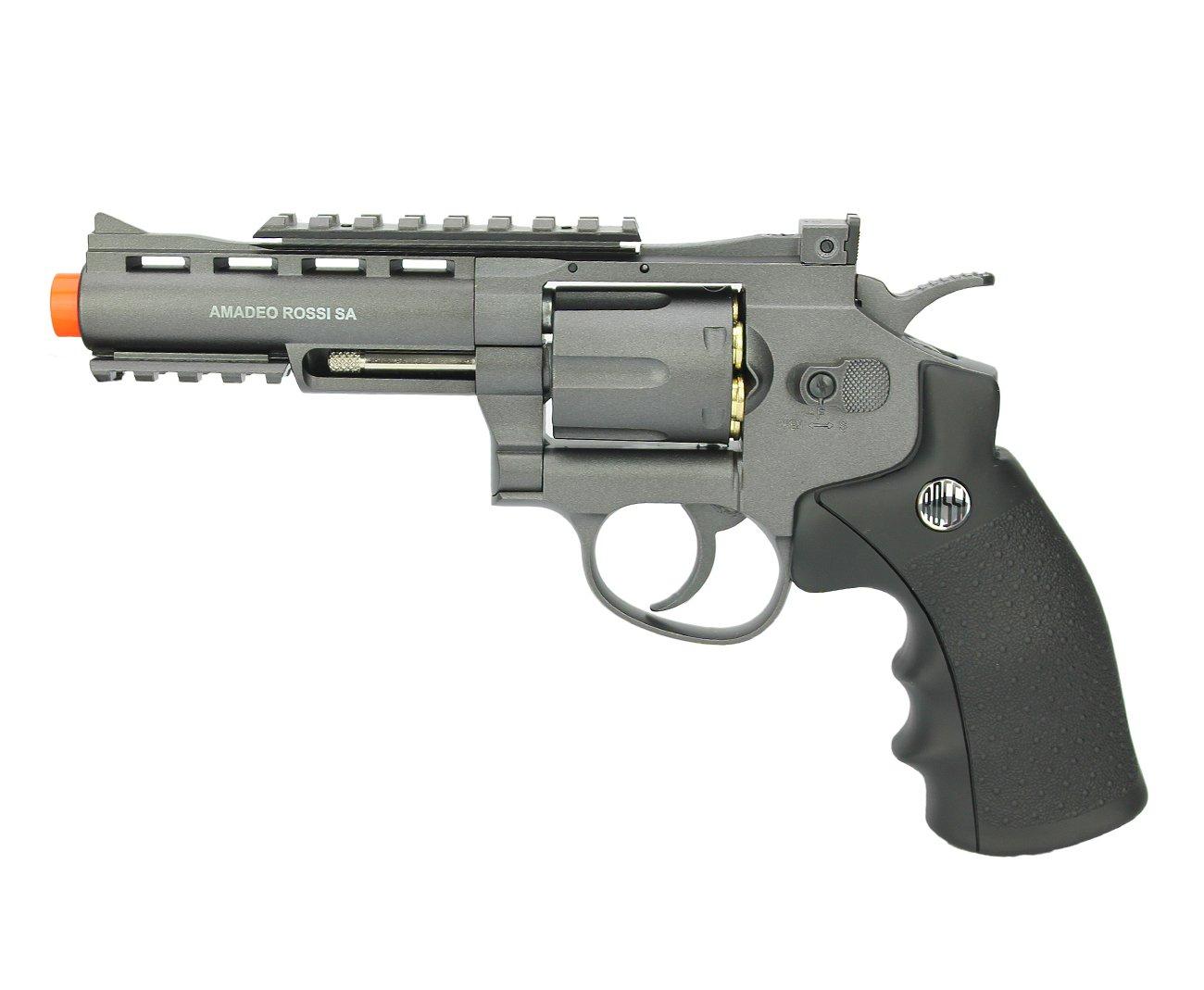 "Revolver 38 Airsoft Gas Co2 6 Tiros 4"" Oxidado Rossi Full Metal M701 6.0mm - Wingun"