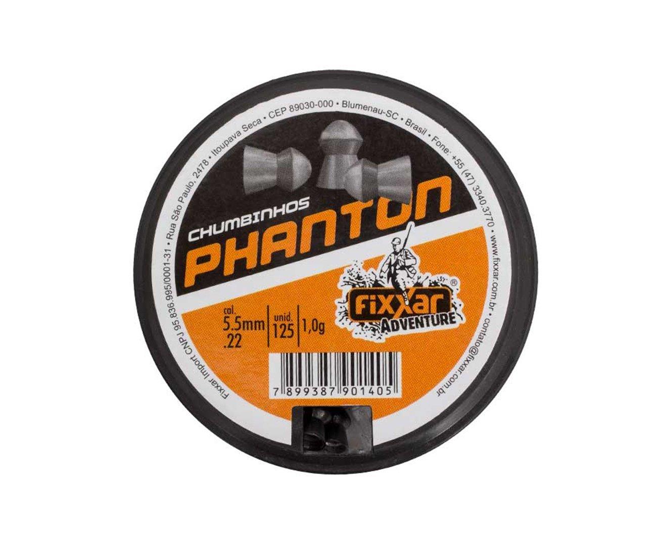 Chumbinho Longo Alcance Phanton 125unds 5.5mm