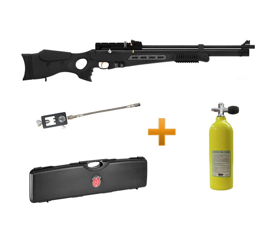 Carabina Pcp Hatsan Bt65sb Elite 5,5 + Case + Scuba 1,9lts + Adaptador Recarga