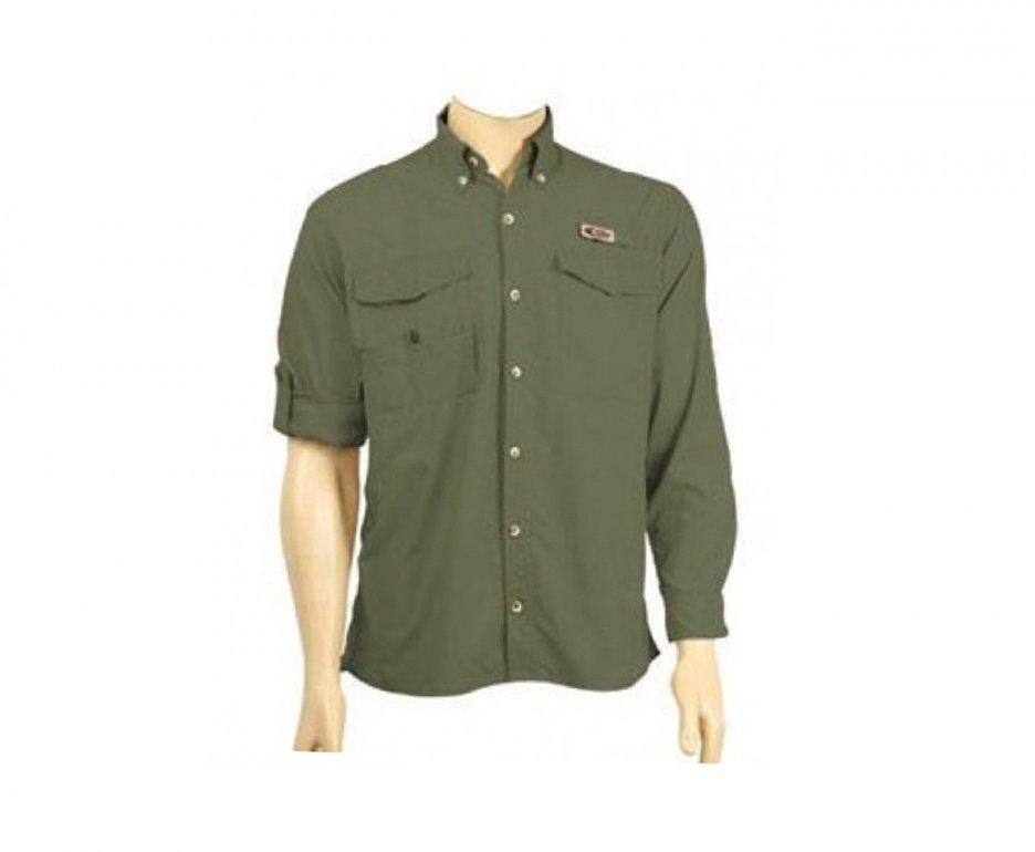 Camisa De Pesca Siena Cardume Adventure Proteção Uva E Uvb Verde Musgo