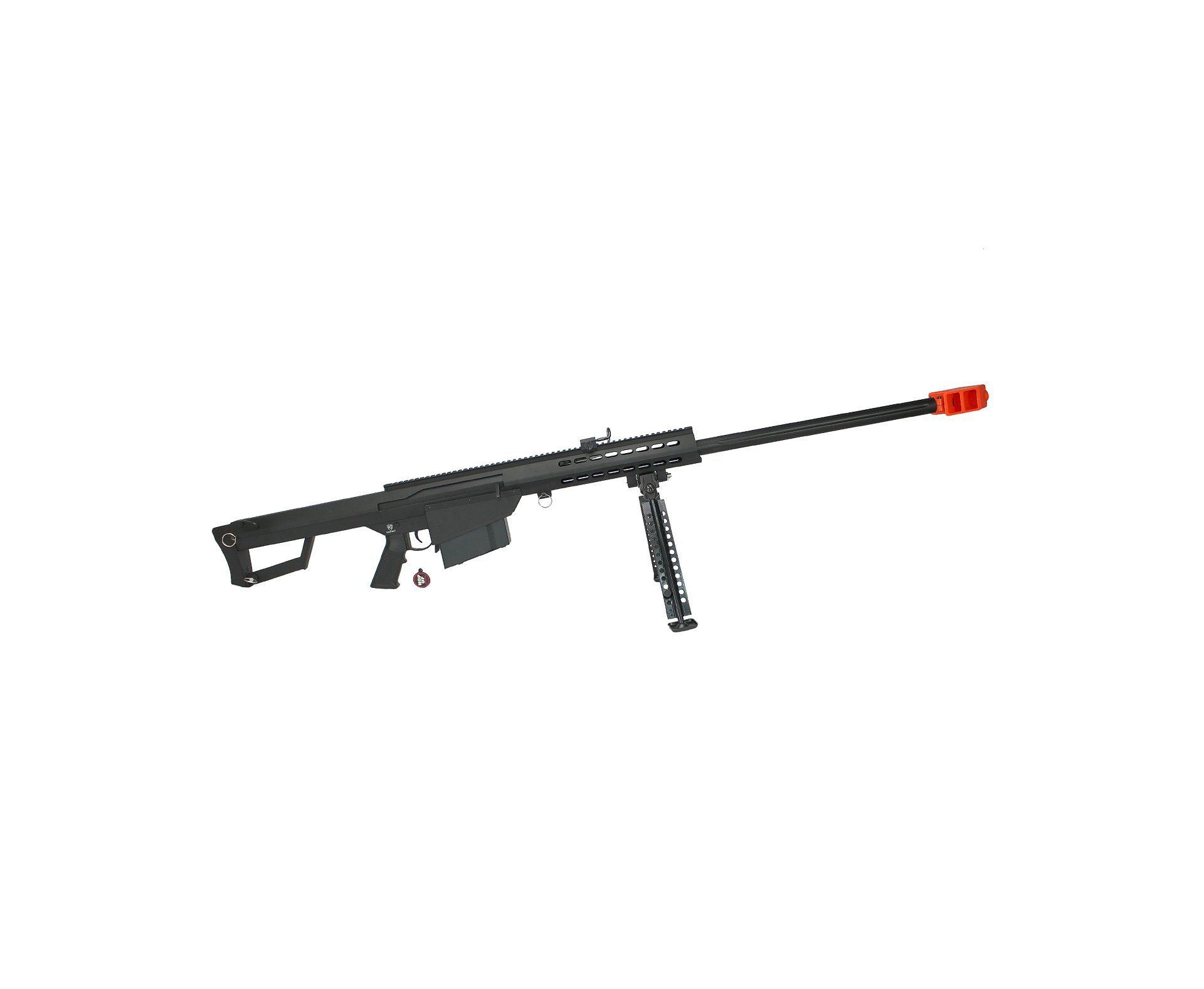 Rifle De Airsoft Sniper Barrett .50 Full Metal Cal 6.0mm - Aeg - 110 V